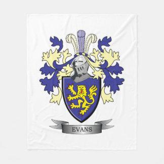 Evans Family Crest Coat of Arms Fleece Blanket