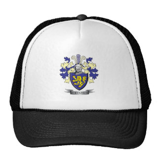 Evans Family Crest Coat of Arms Trucker Hat