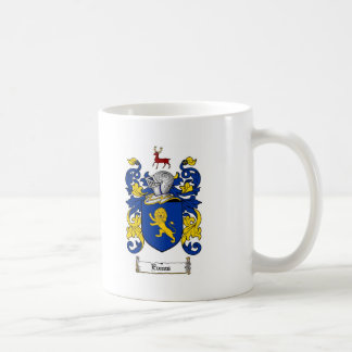 EVANS FAMILY CREST -  EVANS COAT OF ARMS COFFEE MUG