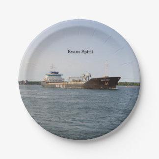 Evans Spirit paper plate