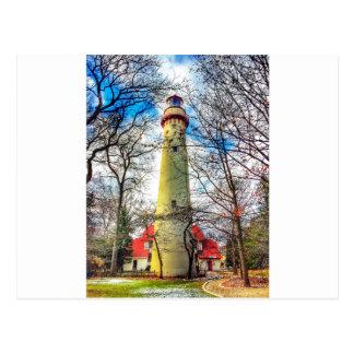 Evanston's Light house Postcard