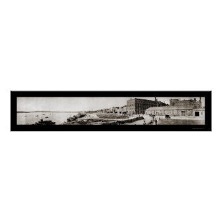 Evansville IN Panorama Photo 1907 Poster