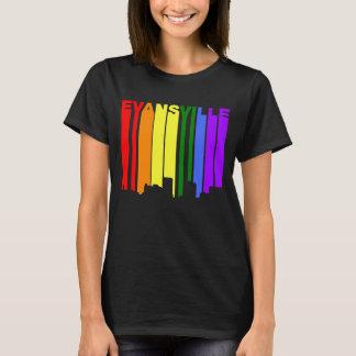 Evansville Indiana Gay Pride Rainbow Skyline T-Shirt
