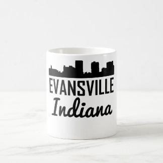 Evansville Indiana Skyline Coffee Mug