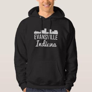 Evansville Indiana Skyline Hoodie