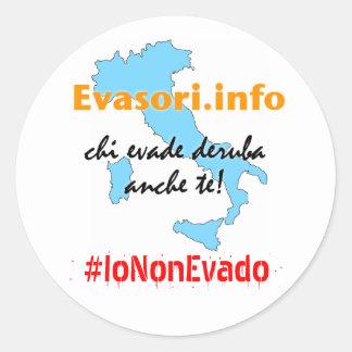 Evasori.info: adesivi #IoNonEvado Classic Round Sticker