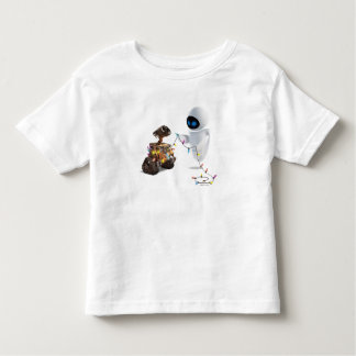 Eve and WALL-E with Christmas Lights Toddler T-shirt