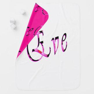 Eve Girls Name Logo, Baby Blanket