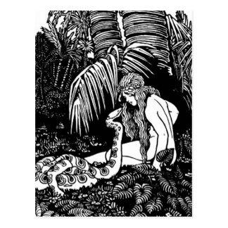 Eve In The Garden Postcard