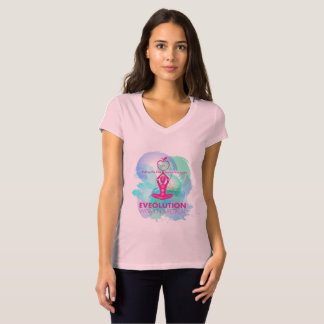 EVE Olution shirt pink with colorful logo