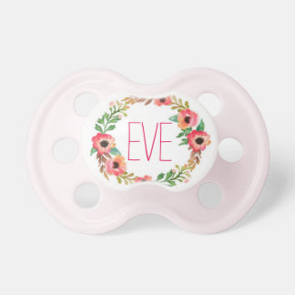 """Eve"" Simple & Elegant Personalized Name Pacifiers"