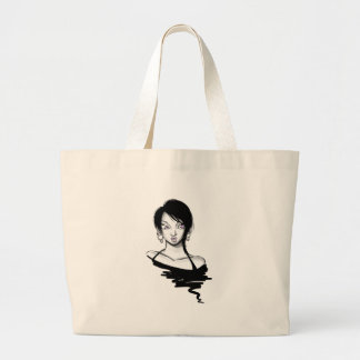 Eve Violet: Hoops Large Tote Bag