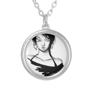 Eve Violet: Hoops Silver Plated Necklace