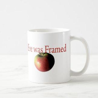 Eve was framed coffee mug