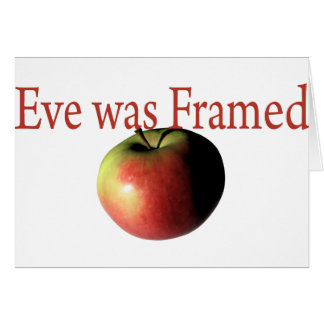 Eve was framed greeting card
