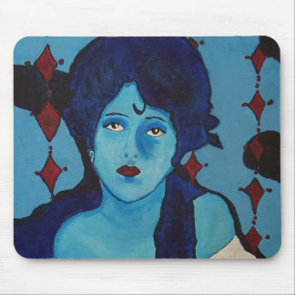 Evelyn Blue Mouse Pad