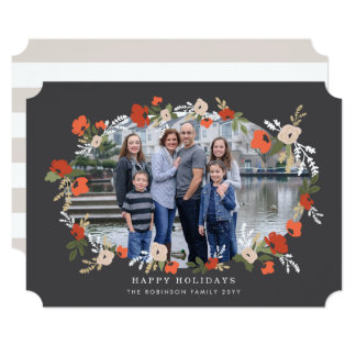 Evelyn Floral Holiday Card