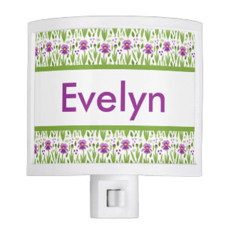 Evelyn's Personalized Iris  Night Light