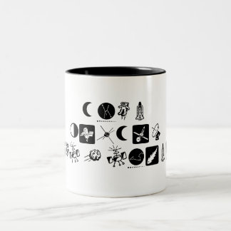 Even ALIENS need a drink. Two-Tone Coffee Mug