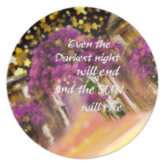 Even in the darkest moment faith is not lost plate