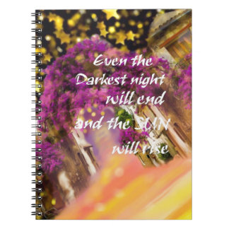 Even in the darkest moment faith is not lost spiral notebook