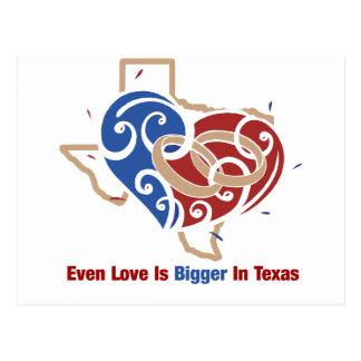 Even Love Is Bigger In Texas Postcard
