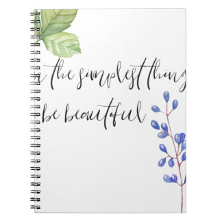 Even the simplest things. notebooks