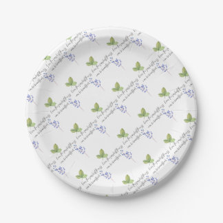 Even the simplest things. paper plate