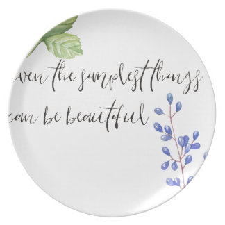 Even the simplest things. plate