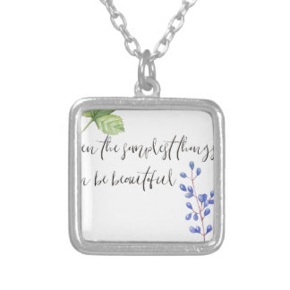 Even the simplest things. silver plated necklace