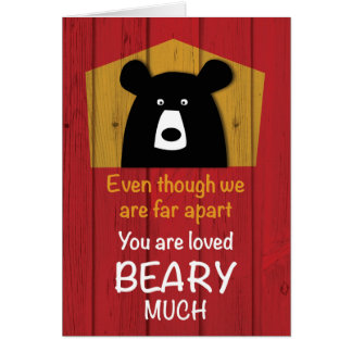 Even We Are Far Apart, Valentine Bear Wishes on Re Card