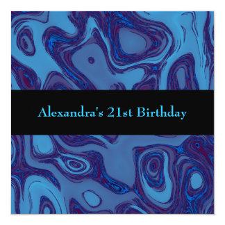 Événement pourpre bleu d'équilibre de noir carton d'invitation  13,33 cm