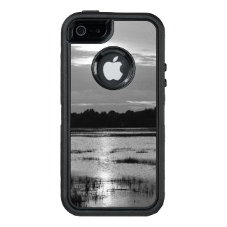 Evening At Folly River Grayscale OtterBox Defender iPhone Case