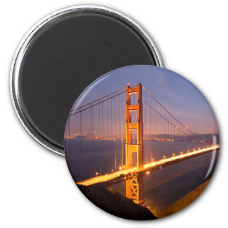 """Evening at Golden Gate Bridge"" magnets"