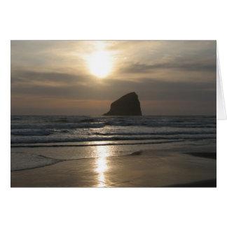 Evening at Haystack Rock Card