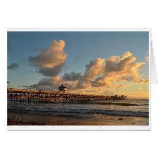 Evening at San Clemene Californa Card