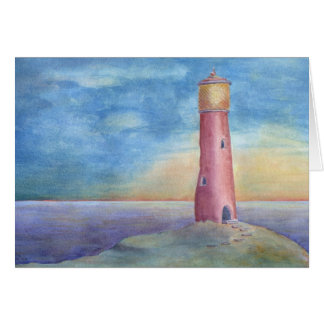 Evening at the lighthouse card