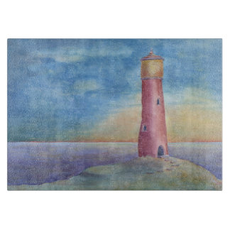 Evening at the lighthouse cutting board