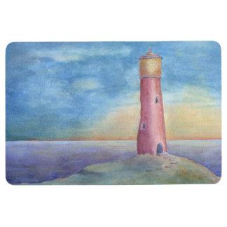 Evening at the lighthouse floor mat