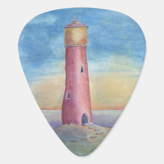 Evening at the lighthouse guitar pick
