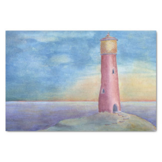 Evening at the lighthouse tissue paper