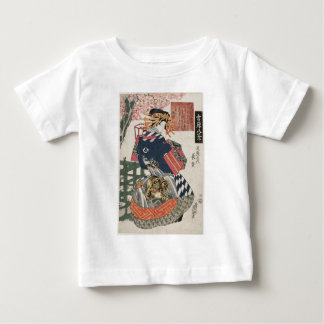 Evening Bell at Mii-dera Temple by Keisai Eisen Baby T-Shirt