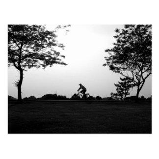 Evening Bike Ride Postcard