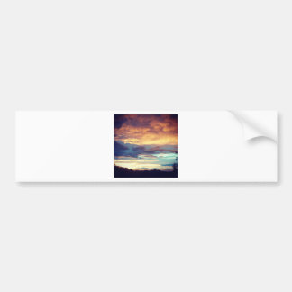 Evening bliss bumper sticker