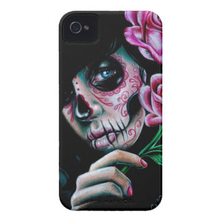 Evening Bloom Sugar Skull Girl Case-Mate iPhone 4 Case