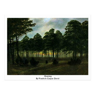 Evening By Friedrich Caspar David Postcard