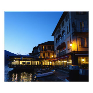 Evening by the Lake in Orta San Giulio, Italy Photo Print