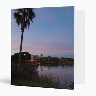 Evening By The Palm Tree 3 Ring Binder