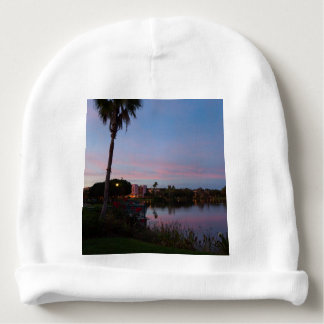 Evening By The Palm Tree Baby Beanie