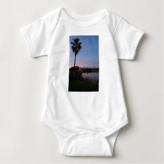 Evening By The Palm Tree Baby Bodysuit